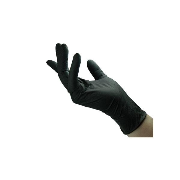 Γάντια μιας Χρήσεως Λάτεξ Μη Πουδραρισμένα Μαύρα 100 τμχ Μεγέθη S , M, L , XL